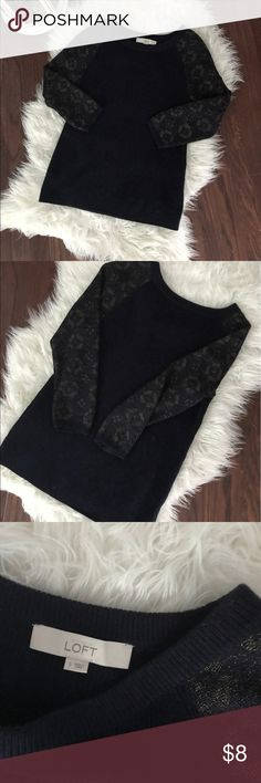ANN TAYLOR LOFT sweater. Navy blue. Excellent used condition. Price is firm. No trades!!! LOFT Sweaters