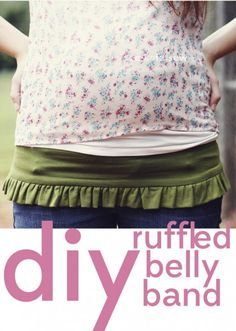 Make a Ruffled Pregnancy Belly Band from a T-shirt - Dollar Store Crafts