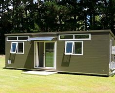 One bedroom portable cabin unit with kitchen and ensuite to rent. Ideal temporary accommodation and rental house. Double Bedroom, One Bedroom, Little Houses, Tiny Houses, Open Plan Kitchen, Living Area, Shed, The Unit, Outdoor Structures