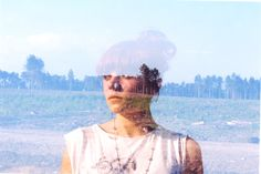 Double-exposure photography of Oliver Morris