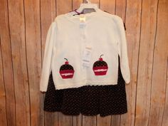 NWT Gymboree Girls Size 18-24 Months Holiday Sweater with Brown Polka Dot Dress   | eBay