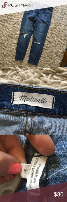 Madewell denim jeans Madewell denim jeans in perfect condition. Madewell Pants Skinny