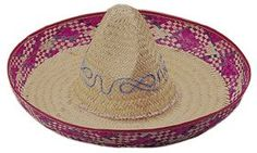 Adult Mexican Straw Sombrero Costume Hat