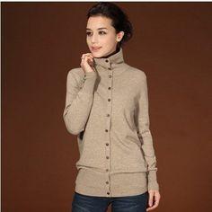Genuine cashmere sweater autumn/winter turtleneck 100% cashmere sweater women cardigan plus size basic shirt free shipping S83