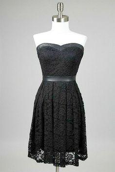 Leather and Lace Strapless Dress #dress #fashion amusemeboutique.com