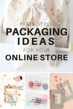 Party-Style Packaging Inspiration for your Online Store   hollycastocreative.com