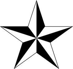 Perfect Nautical Star Tattoo in Black And White ❥❥❥ https://tattoosk.com/nautical-star-tattoo#1