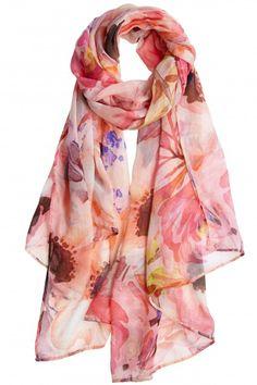 Melanie Floral Printed Modal Scarf   | Calypso St. Barth