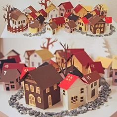 Papercraft Advent Calendar Village | Tektonten Papercraft