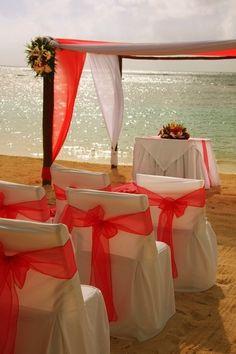 Destination Wedding - Beach Ceremony See more wedding inspiration at www. Beach Ceremony, Wedding Ceremony, Our Wedding, Dream Wedding, Wedding Beach, Wedding Ideas, Wedding Coral, Wedding Arches, Sunset Wedding