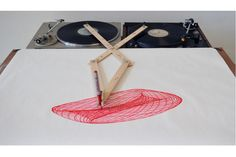Robert Howsares Drawing Apparatus. Record Player drawing machine.
