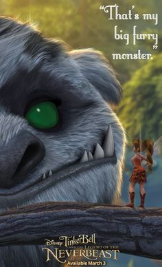 """That's my big furry monster."" - Fawn from Tinker Bell and the Legend of the NeverBeast. Available on Blu-ray™, Digital HD & Disney Movies Anywhere March 3."