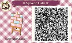 i just wanted to show off this path i made for my town!! it's Sylveon inspired and im proud of it since it's my first path ive ever made ;u; it's a one tiler too!