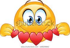 Emoticon Emoji, Heart Emoticon, Emoji Emoticons, Smileys, Hug Smiley, Funny Emoji Faces, Emoji Design, Paper Banners, Heart Garland