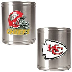 NFL Kansas City Chiefs Two Piece Stainless Steel Can Holder Set - Primary & Helmet Logo Great American Products http://www.amazon.com/dp/B002V3G9PO/ref=cm_sw_r_pi_dp_cX5Xvb1AQP06G