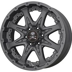 Matte Black American Outlaw Buckshot with a offset and a 125 hub bore Jeep Rims, Jeep Wheels, Truck Rims, Truck Wheels, Hot Wheels, Rims For Cars, Rims And Tires, Wheels And Tires, Red Jeep
