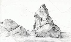 How to sketch Realistic rocks - Google Search