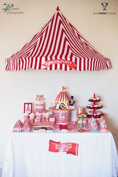 """party city circus theme   Photo 22 of 33: Circus / Birthday """"Harry's 2nd Circus Birthday Party"""""""