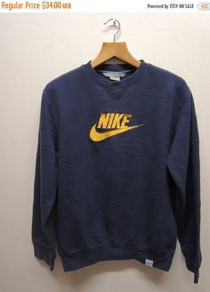 4c0d35ab6efc Vintage 90s Nike Training Swoosh Embroided Big Logo Sweatshirt Swag Hip  Hop… Vintage Nike Sweatshirt