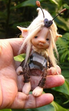 sweet fairy fairie bug posable ooak by throughthemagicdoor on Etsy