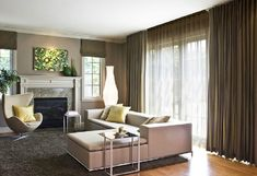 Modern and Sophisticated Family Room Interior Design of Glam Couple by Claudia Mahecha, San Francisco