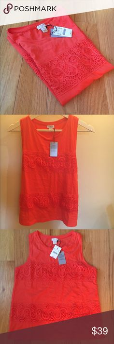 NEWJ.Crew Crochet Front Top NEWJ.Crew Crochet Front Top.   Perfect for summerno trade no PayPal no holds.✅ Reasonable Offers are accepted. Lowball offers will be declined. J. Crew Tops Tank Tops
