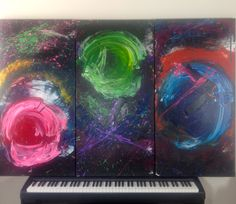 Series: Beauty is What You See // Title: Work [#38] «WWW» // Size: Triptych (48''x72'') // Artist: Olicorno // Price: 2500$ (SOLD)