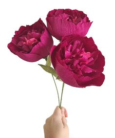 Fluffy Peony: Handmade Crepe Paper Bloom by on Etsy Flower Crafts, Diy Flowers, Fabric Flowers, Paper Flowers, Paper Peonies, Crepe Paper, Peony, Bouquet, Bloom