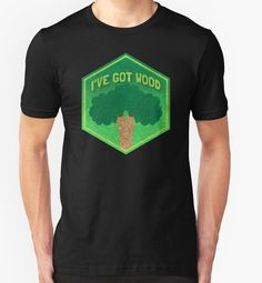 I've got WOOD (distressed version) CATAN funny board game shirt  by jazzydevil