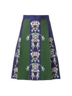 Mecha Tiki Man-print skirt | Mary Katrantzou | MATCHESFASHION.COM