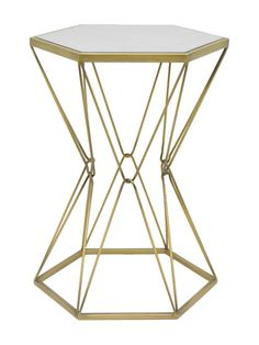 $69 + shipping Hexagonal Accent Table by Three Hands at Gilt