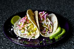 charred corn tacos with zucchini-radish slaw and avocado by smitten, via Flickr