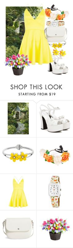 """secret garden"" by eirinimaria ❤ liked on Polyvore featuring Yves Saint Laurent, claire's, AX Paris, Casio, BP. and Improvements"