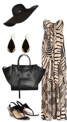 Celine Luggage Phantom Croco Handbag in Black