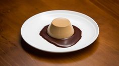Nigella's Three-Course Dinner - Coffee Panna Cotta with Chocolate Sauce [Recipe by: Nigella Lawson]