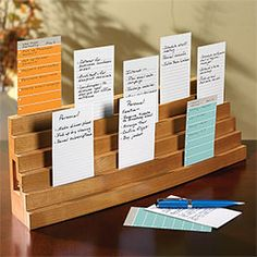 Note Card Bleachers   Such a wonderful idea for keeping notes handy and ordered while writing!