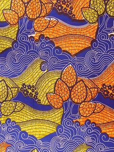 Stunning nature scenery design african wax print by TamiahDesigns, $6.20