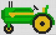 Tractor perler bead pattern