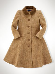Tweed Princess Coat - Jackets & Coats Girls 1½-6½ Years - Ralph Lauren UK