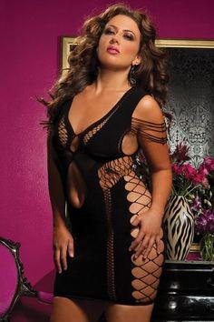Plus Size Sexy Seamless Dress