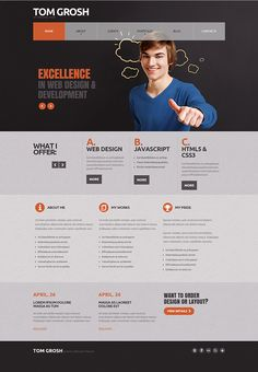 Personal Page Joomla Template