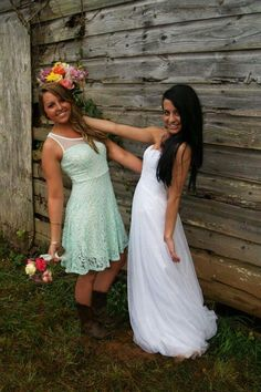 Wedding, bridesmaid, mint green lace dress, cowgirl boots, photo ideas