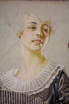 J.C. Leyendecker : Illustration for Saturday Evening Post cover (detail) // Preliminary oil painting