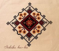 Cross Stitch Designs, Cross Stitch Patterns, Knitting Patterns, Palestinian Embroidery, Bargello, Cross Stitch Embroidery, Needlepoint, Bohemian Rug, Mandala