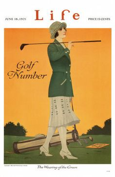 Life Golf Lady ~ Fine-Art Print - Vintage Sports Art Prints and Posters - Vintage Sports Pictures Golf Humor, Golf Attire, Golf Outfit, Life Magazine, Magazine Art, Golf Art, Life Poster, Vintage Golf, Vintage Country