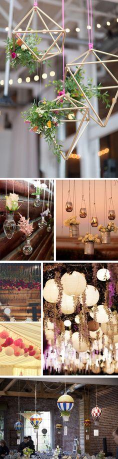Preciosa decoración colgante en tu boda