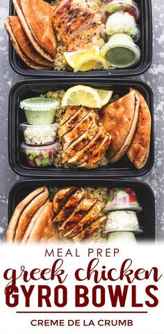 Easy and healthy Meal Prep for the week & for Beginners! These Greek Chicken Gyro Bowls are delicious and perfect for lunch or dinner! The post Easy and healthy Meal Prep for the week & for Beginners! These Greek Chicken Gyr& appeared first on Diet. Diet Food To Lose Weight, Weight Loss, Healthy Snacks, Healthy Eating, Healthy Meals For Dinner, Clean Eating, Healthy Delicious Meals, Food For Lunch, Healthy Recipes