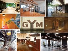 Design gyms, picture collage by Diseño Interior Bruto, www.facebook.com/... www.dibestudio.com/