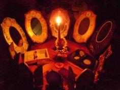 Magickal Ritual Sacred Tools:  Scrying mirrors.