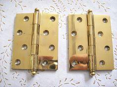Italia vintage cerniere ottone oro per porte interne di ottima Antique Hinges, Wallet, Antiques, Vintage, Gold, Italia, Antiquities, Antique, Handmade Purses